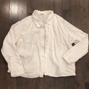 Vintage linen button up